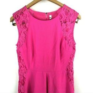 ARA Dress Size Small Pink Lace